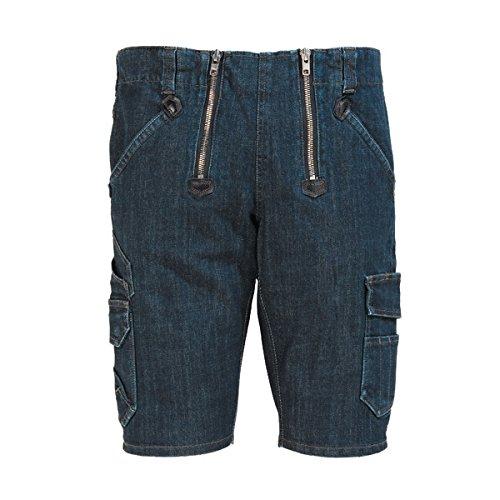 FHB Jeans-Bermuda, Volkmar, Größe 56, schwarz / blau, 22635-22-56 -