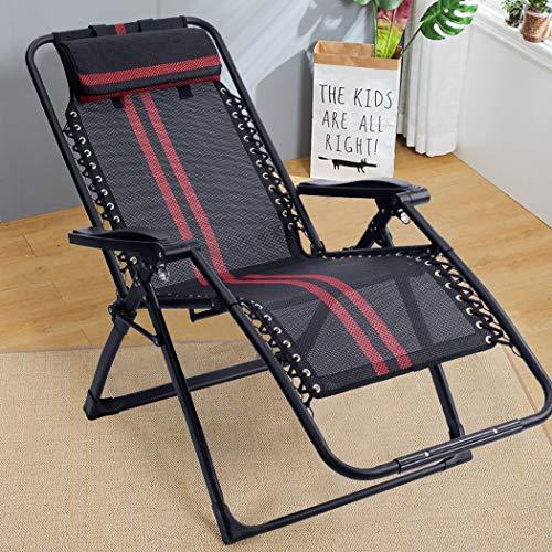 Gekrümmten Rücken Couch (ZZZ-TY Liegestuhl Klappbar Mit Abnehmbarem Kopfpolster Belastbarkeit 120 Kg Und Stufenlos Verstellbar Relaxsessel UV BestäNdig BalkonmöBel)
