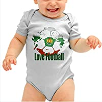 Mameluco bebé Ropa de niña niño bebé recién nacido Pijama con estampado de fútbol Mono de bebé ❤️Amlaiworld❤️ (Gris, Tamaño:24Mes)