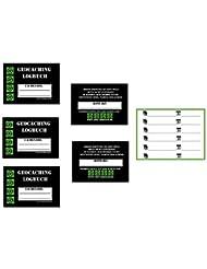 Neue Version - 10 x WASSERDICHTE KUNSTSTOFF Filmdosen Logbücher, 600 Logs 40 Seiten Powertrail Geocaching Logbücher