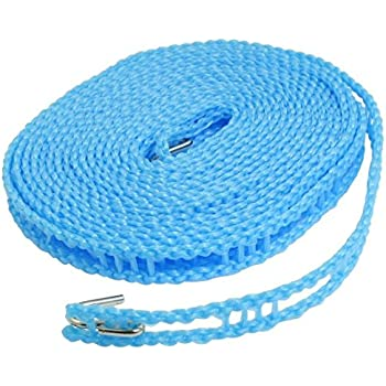 Japan House 5 Meters Windproof Anti-Slip Clothes Washing Line Drying Nylon Rope with Hooks