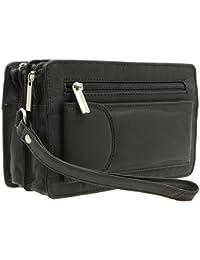jejo-bags® Herren echt Leder Handgelenktasche Herrenhandtasche in 3 Farben