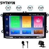 SWTNVIN Android 10.0 Auto Audio Stereo Headunit si adatta per Volkswagen Skoda Radio 9 Pollici HD Touch Screen GPS Navigazione GPS con Bluetooth WIFI Steering Wheel Control 2GB-32GB (Sottile)
