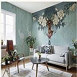 Znnyu Tapete Wandbild Vlies Kreative Blumentapete Wohnzimmer Schlafzimmer Wand Selbstklebend