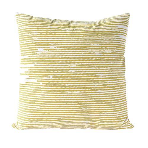 Nielsen Kissenbezug Knit, 45x45 cm, Bamboo (gelb/weiß) -
