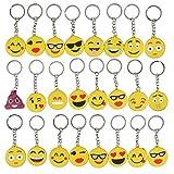 Gudotra 34pz Emoji Portachiavi Smile Gadget Regalo Pensierini Bomboniere Compleanno Bambini Adulti Natale