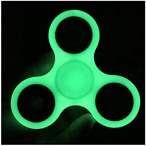 Produktbild Fidget Spinner Leuchtend Tri Spinner ABS, GIM Fingerspitze Gyro Hand Spinner Led Fidget Toy, EDC Focus Spielzeug für Kinder & Erwachsene