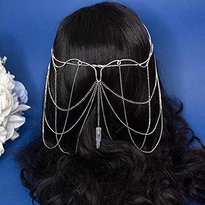 Diadème de mariage elies Taliesin, couronne de reine elfique en fil métallique et chaînes en argent, mariages fantaisie, costumes, ensembles de photographies et de photographies
