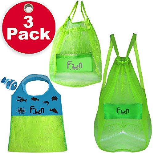 NETZBEUTEL SCHWIMMEN - Netztasche perfekt für Kinder Strandspielzeug, Muscheln, Poolhandtücher, Badeanzüge
