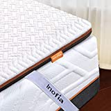 Inofia Double Memory Foam Mattress Topper with Cover, 6CM Naturbrown Mattress Topper,Transform Old