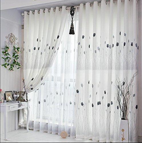 1 Stück bloße Fenster Voilevorhang Grommet Panels (weiß) Wohnzimmer / Schlafzimmer / Balkon – 78.7inch * 106inch-1pc