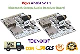 2pcs A7-004 Bluetooth Audio Stereo Music Wireless Receiver Board USB TF Card