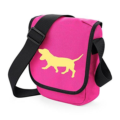 Bag Pixie ,  Unisex Erwachsene Umhängetaschen Fawn Dog Pink Bag