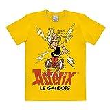Logoshirt - T-Shirt Herren Asterix, le Gaulois - Asterix, der Gallier Shirt - gelb - Lizenziertes Originaldesign, Größe XXL