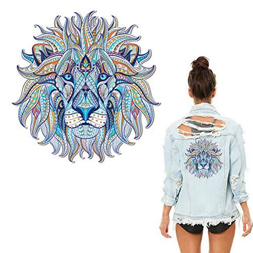 3pcs 3D testa di leone vestiti cerotti Marea maschio Marea femminile abbigliamento t-shirt in transfer abiti termoadesive fai da te Decorazione