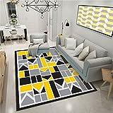 CHAI Wohnzimmer Dekorative Teppich Fußmatten Geometrische Muster 3D Färben Europäischen Einfachen Stil Rechteckige Teppich Kinder Teppich Schlafzimmer Rutschfeste Teppich Teppich Teppiche
