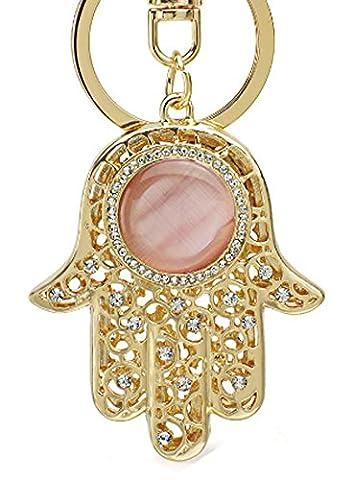 SaySure - Amulet Hamsa Fatima Hand Evil Eye Keychains (Civic Drum)