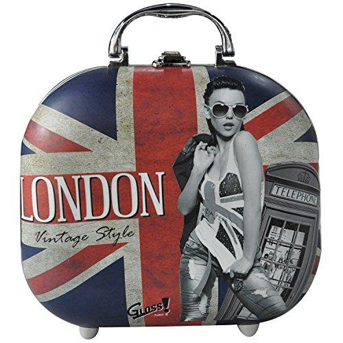 Gloss! Mallette de Maquillage London Vintage Style 48 Pièces, Coffret Cadeau-Coffret Maquillage