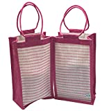 SNDIA 2-Pack Reusable & Eco Friendly Jute Lunch Bag for Men Women Office Tiffin Box Bags | Return Gifts | Multi-Purpose use.