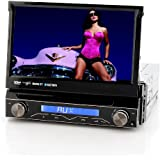 "7 Inch Touch Screen Car DVD Player ""Passion"" - Flip-Out Display, Detachable Front Panel, Bluetooth, DVB-T (1 DIN)"