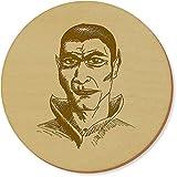 Azeeda 6 x 'Dracula' Runde Hölzerne Untersetzer (CR00021352)