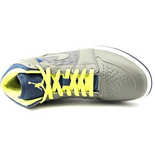 Air Jordan 1 Retro  97 Txt Mens Sneakers Flat Pewter Electric Yellow Squadron  Blue Flat ... 26555343fc56