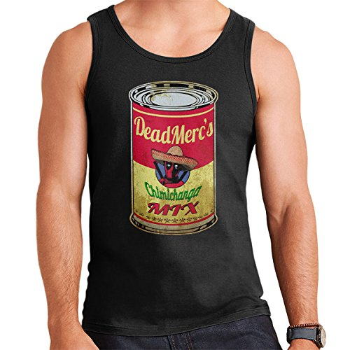 Deadpool Campbell Soup Chimichanga Mix Men's Vest Black