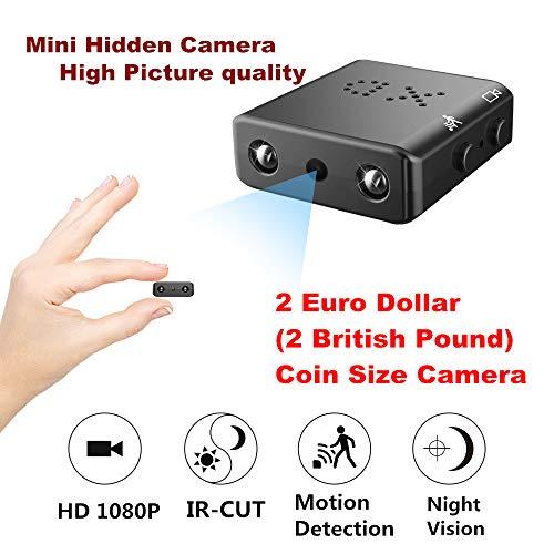 ZTour Mini Versteckte Spion-Kamera,Kleinste Vesteckte Überwachungskamera HD 1080P DV,DVR,Camkorder, Kleinste Spion Kamera mit Bewegungserkennung,Nachtsicht, IR,Loop Video für Arbeiten/Hause/Auto (Mini Spion Dvr Kamera)