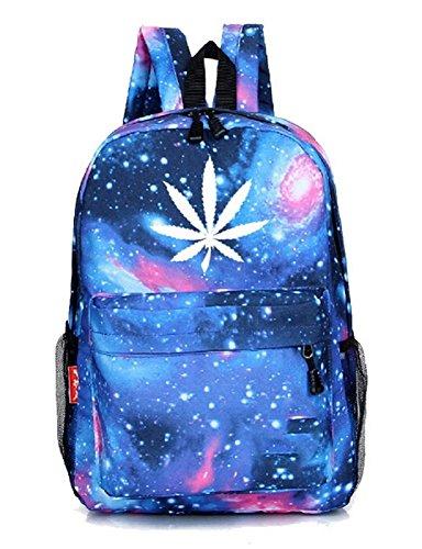 Yoyoshome unisex marijuana Weed Maple Leaf Cannabis zaino scuola borsa a tracolla