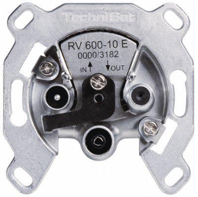 TechniSat TECHNIPRO RV 600-10E Durchgangsdose mit Überlastschutz Silber