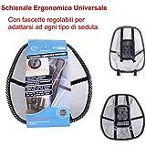 EURONOVITA' ® Schienale ergonomico supporto lombare con fascette regolabili per sedie sedile ...