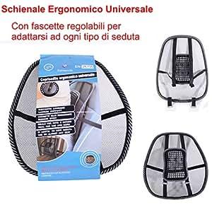 euronovit soutien lombaire ergonomique avec attaches r glables pour si ges de voiture et de. Black Bedroom Furniture Sets. Home Design Ideas