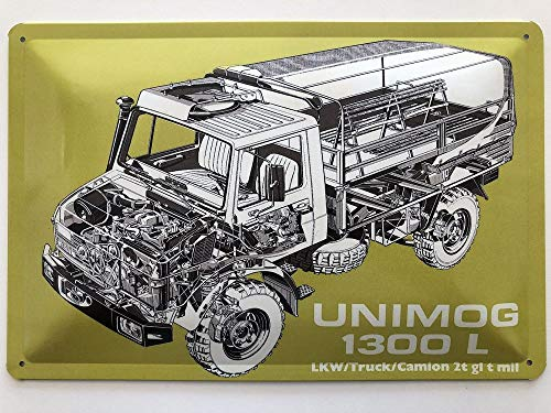 Blechschild 30 x 20 cm Unimog 1300 L - Deko7