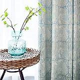 KELE Nordic Style Wohnzimmer Foor bodentiefe Fenster Jacquard Fenster Vorhang, Einfache Moderne Schlafzimmer 1 Platten Blackout vorhänge Tülle verdunkelung Vorhang-A W:200XH:260cm