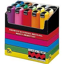 Uni-Ball Posca - Paquete de 15 rotuladores permanentes, multicolor