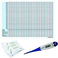Preisvergleich für Thermometer Domotherm 0830 Rapid mit 5 Zykluskalendern und 20 One+Step Aide Ovulationstests