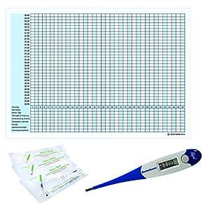 Thermometer Domotherm 0830 Rapid mit 5 Zykluskalendern und 20 One+Step Aide Ovulationstests