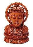 RUPASA 100% Handmade hochwertige Kunstwerk - hölzerne Serene Buddha Figur mit aufwendigen Details