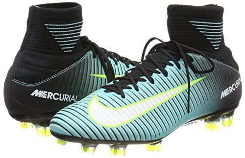 Nike Mercurial Veloce 3 Dynamic Fit (Fg), Scarpe da Calcio Donna, Blu (Light Aqua/White-Black-Volt), 38 EU Blu (Light Aqua/white-black-volt)