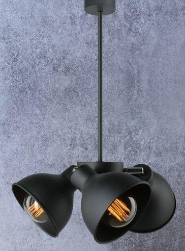Moderne Deckenleuchte in Schwarz | Ø 40cm | Hängeleuchte | Deckenlampe | 3- Flammig | Einzelne...