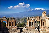 Poster 90 x 60 cm: Griechisches Theater in Taormina,