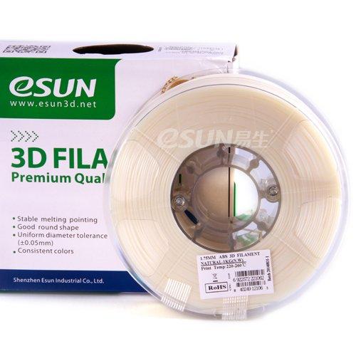 Preisvergleich Produktbild eSun 3D Filament - ABS+, 1Kg, 1.75 / 3.00 mm - Verschiedene Farben, Druck Tempe. 220-260, für 3D Drucker z.B. MakerBot RepRap MakerGear Ultimaker Mendel Huxlep UP Thing-o-matic, Universal (1.75mm, Natur)