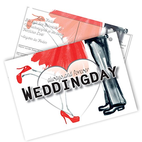 "Preisvergleich Produktbild 20 Flugkarten "" always and forever Weddingday"""