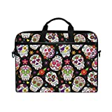 Best Kind Macbook Cases - Laptop Case, Sugar Skull Printed with 3 Compartment Review