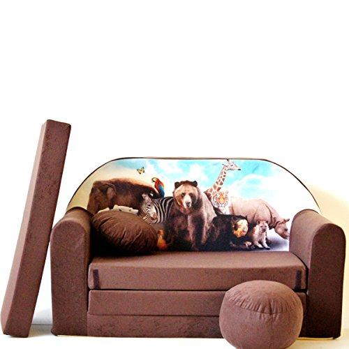 Barabike K8-a Bébés pour Enfants Mini Canapé bébé Canapé lit Pouf Lot de 3 en 1 d'oreillers en Mousse