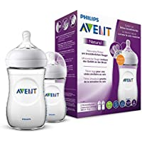 Philips Avent Philips Avent Natural Flasche, naturnahes Trinkverhalten, Anti-Kolik-System, 260ml, transparent