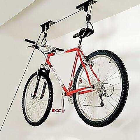 Innova® Vélo Lift, capacité de 20kg Poulie Condole Affichage haute étagère Rack Hanging Rack étagère Grue Cadre Cintre Bick Palan Lift Garage de stockage canoë Hoists Contenance Bike Lift Palan Garage