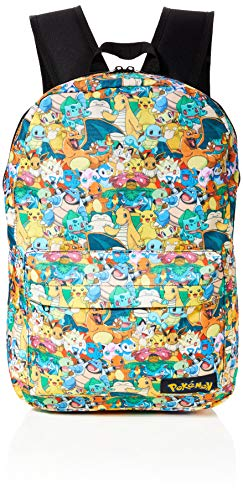 Bioworld POKEMON All-over Characters Print Backpack Rucksack, 45 cm, 15 liters, Mehrfarbig (Multicolour)