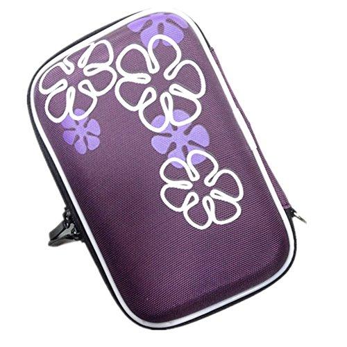 Utile Organizer Per Cavi Hard Disk Chiavette USB, Custodia Da Viaggio Porta Accessori Elettronici, Borsa Impermeabile Tasche Fascette Elastiche Viola