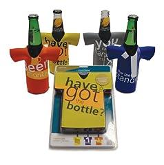 Idea Regalo - Cellardine - Set 4 Magliette isolanti per Mantenere Le Bottiglie di Birra Sempre fresche